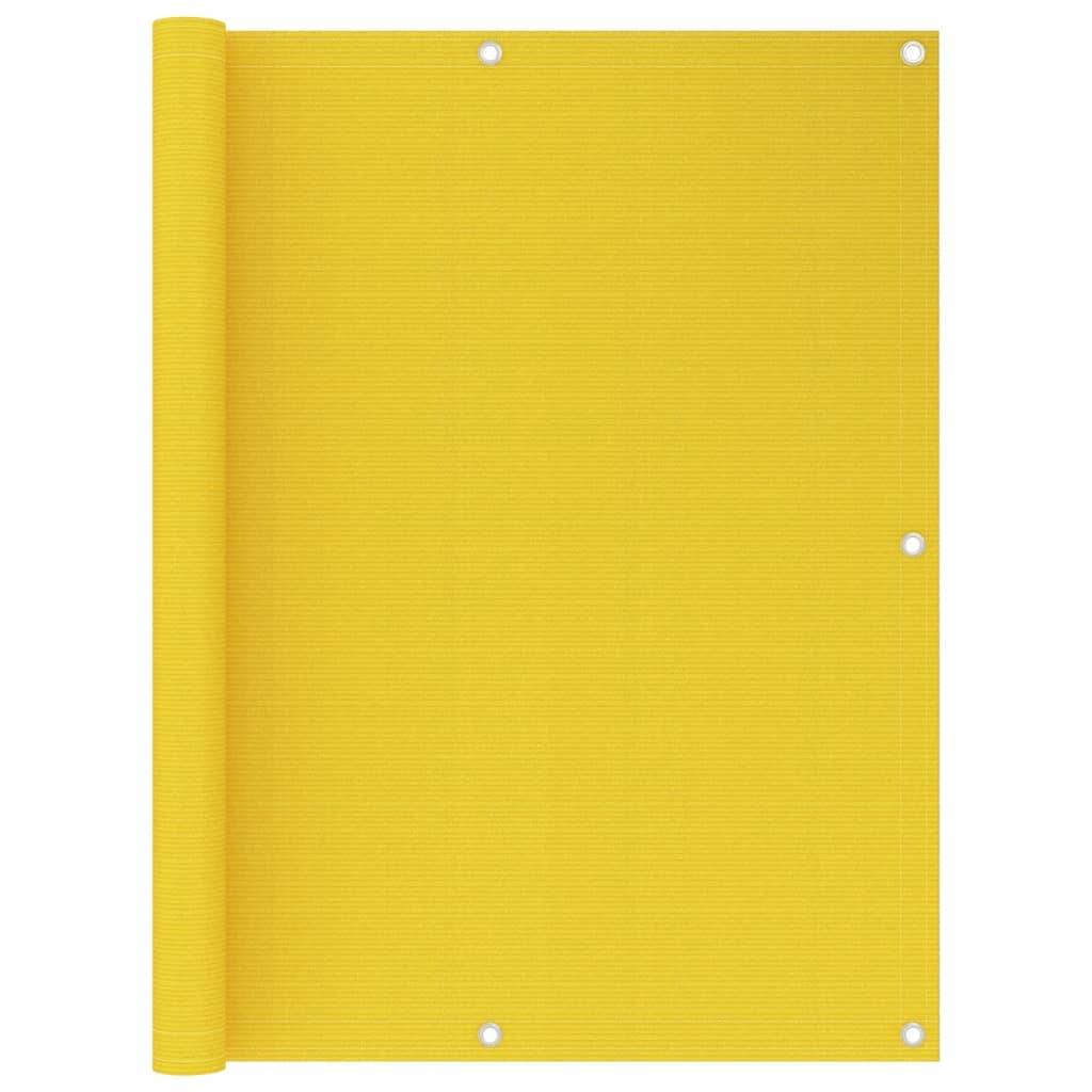 Balkónová zástěna žlutá 120 x 300 cm HDPE