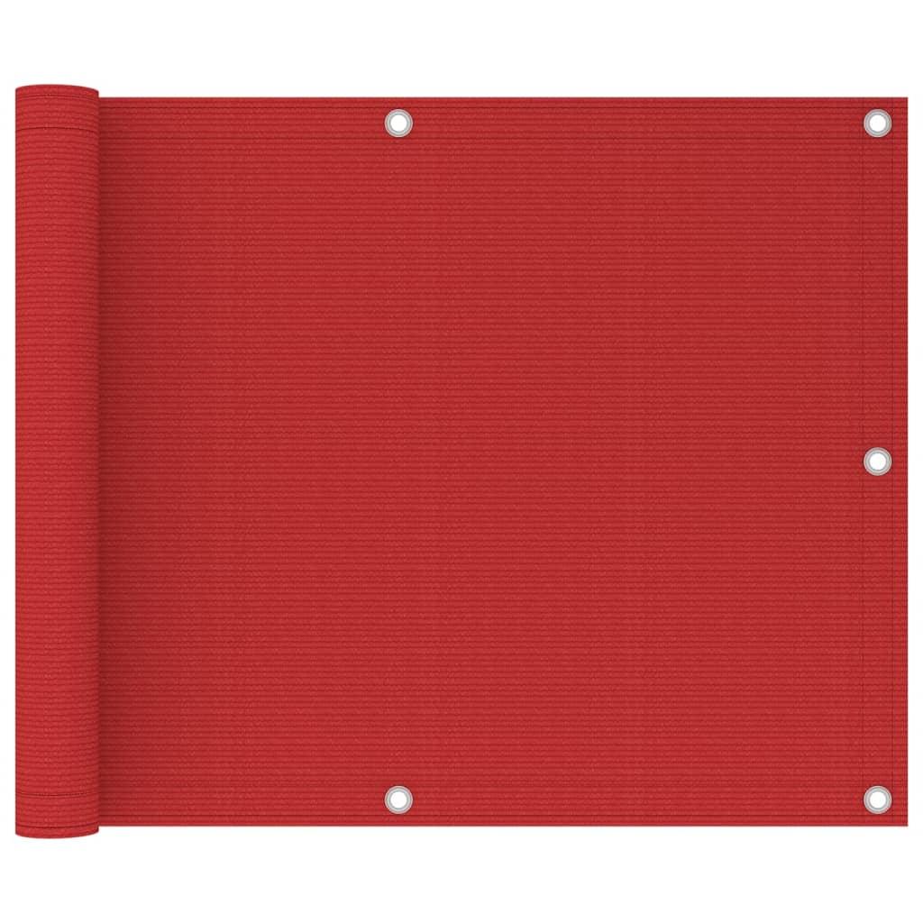 Balkónová zástěna červená 75 x 300 cm HDPE
