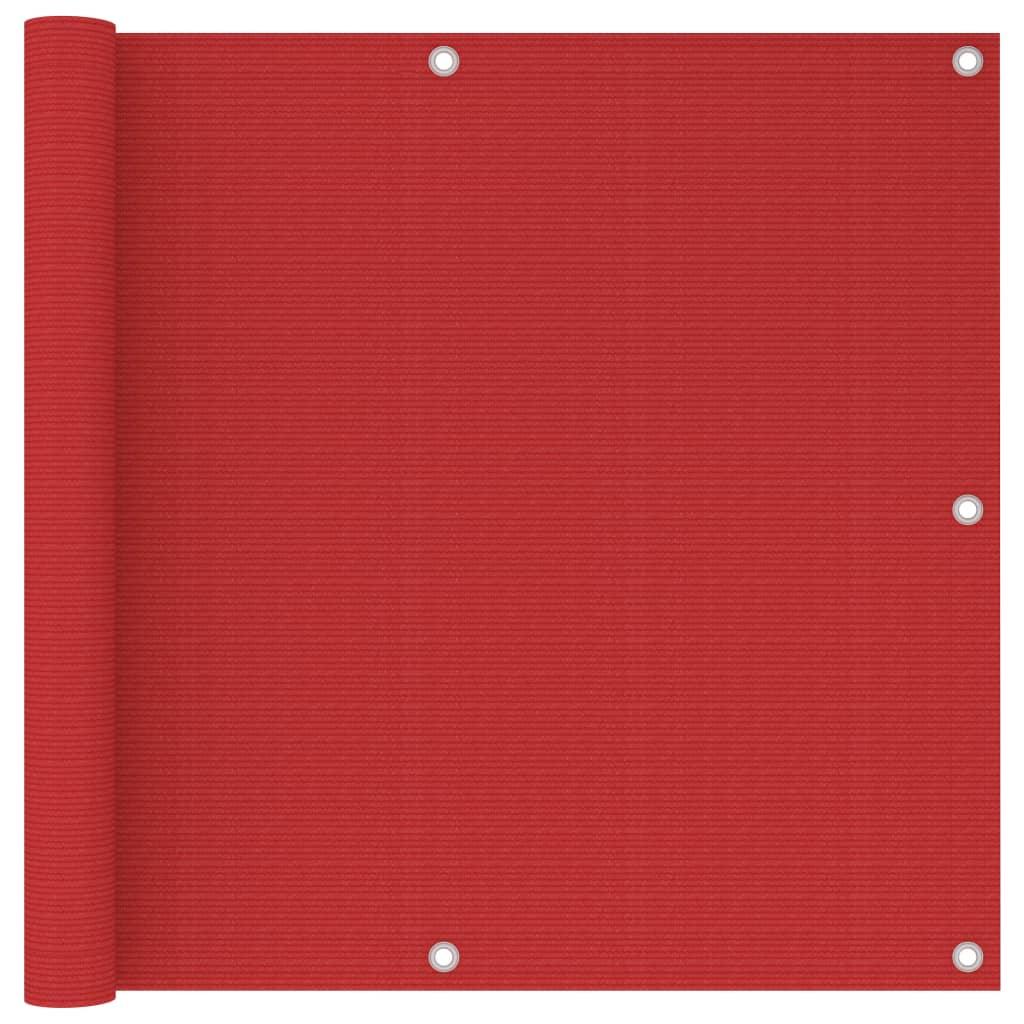 Balkonová zástěna červená 90 x 300 cm HDPE