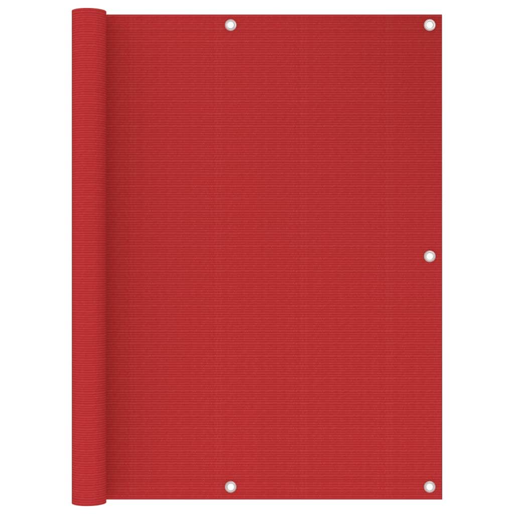 Balkónová zástěna červená 120 x 300 cm HDPE