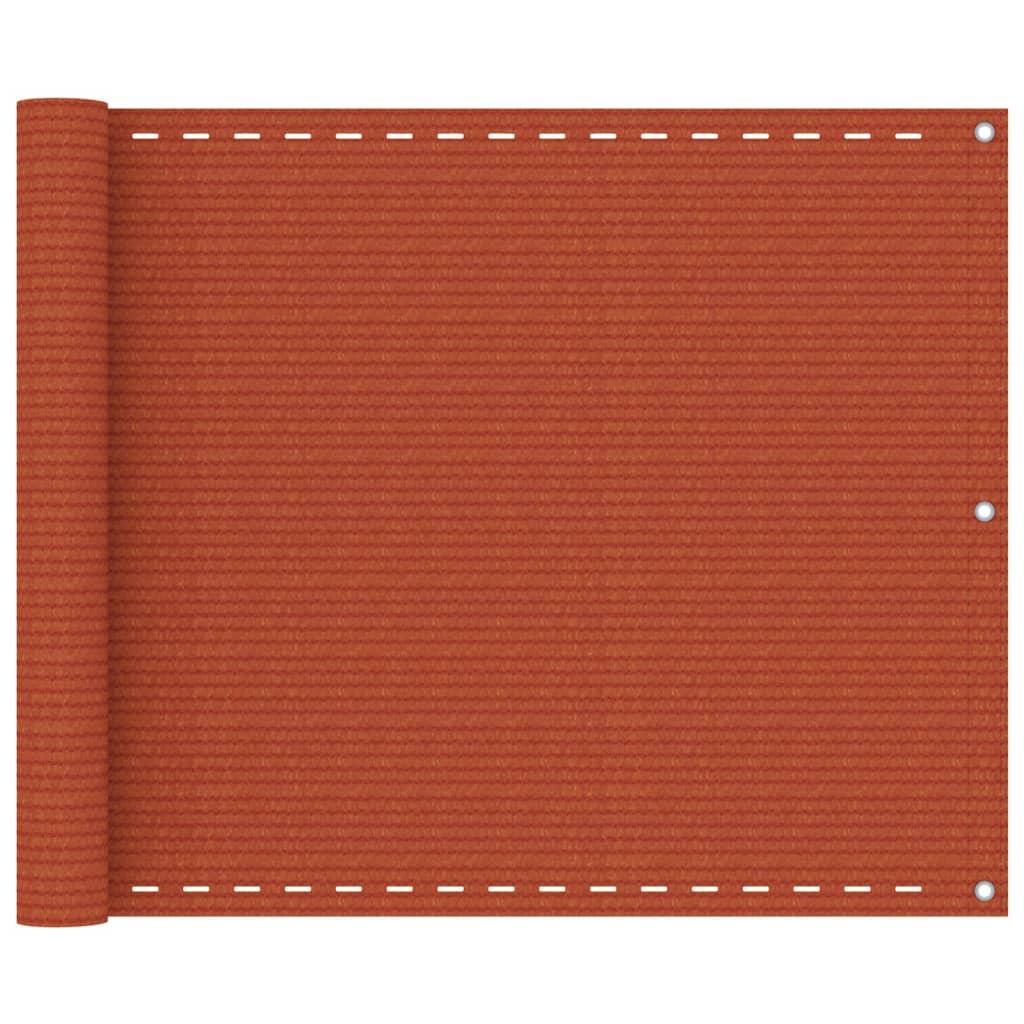 Balkonová zástěna oranžová 75 x 300 cm HDPE