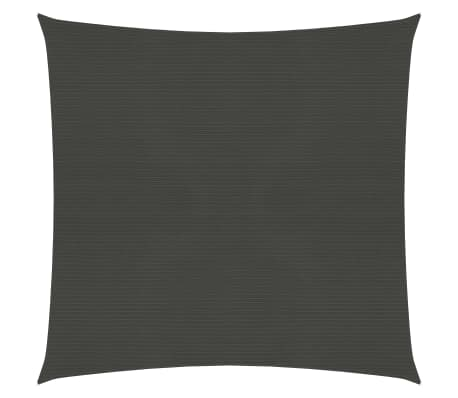 vidaXL Voile d'ombrage 160 g/m² Anthracite 3x3 m PEHD