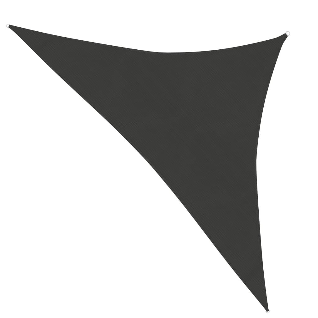 vidaXL Zonnezeil 160 g/m² 3,5x3,5x4,9 m HDPE antraciet