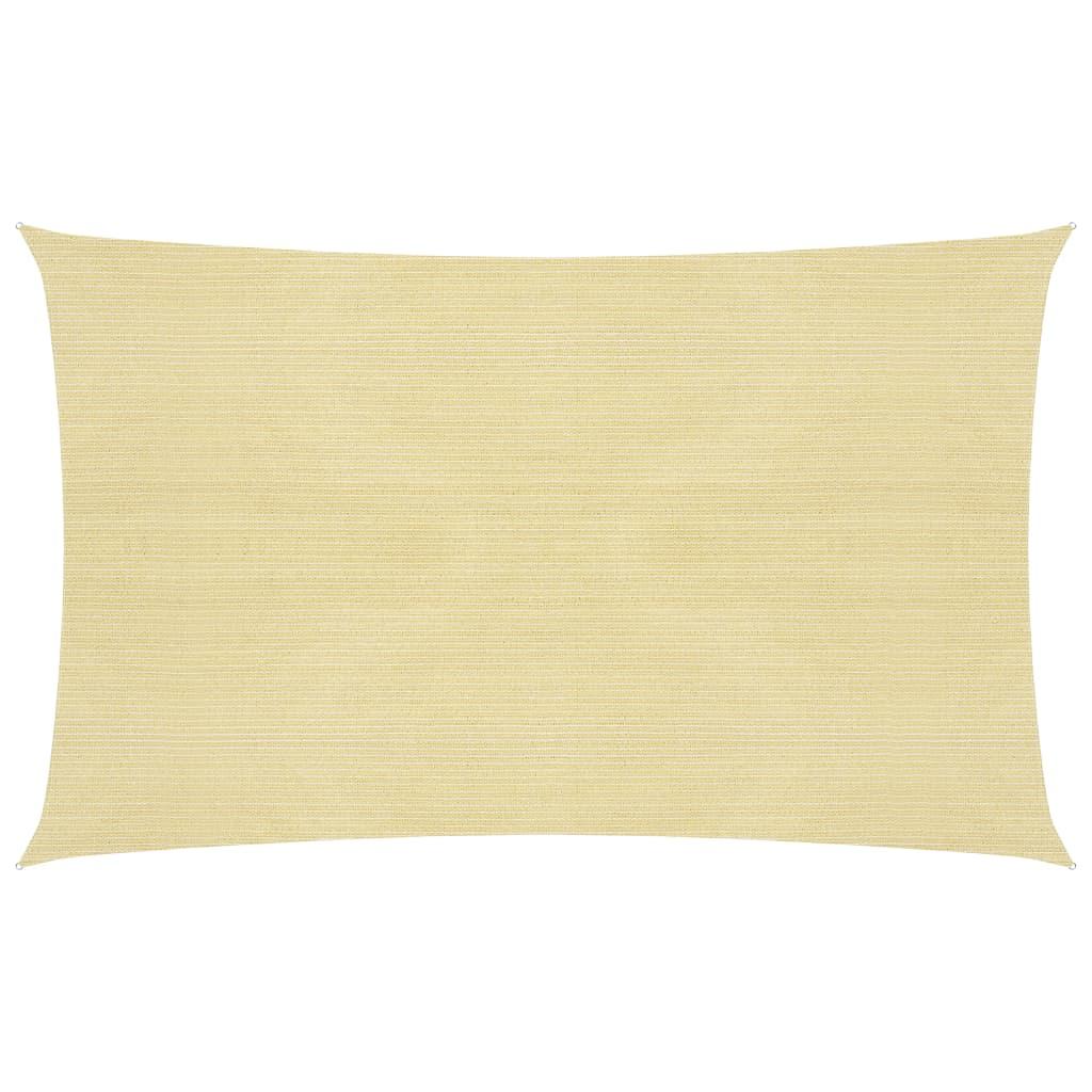 vidaXL Zonnezeil 160 g/m² 2x4,5 m HDPE beige