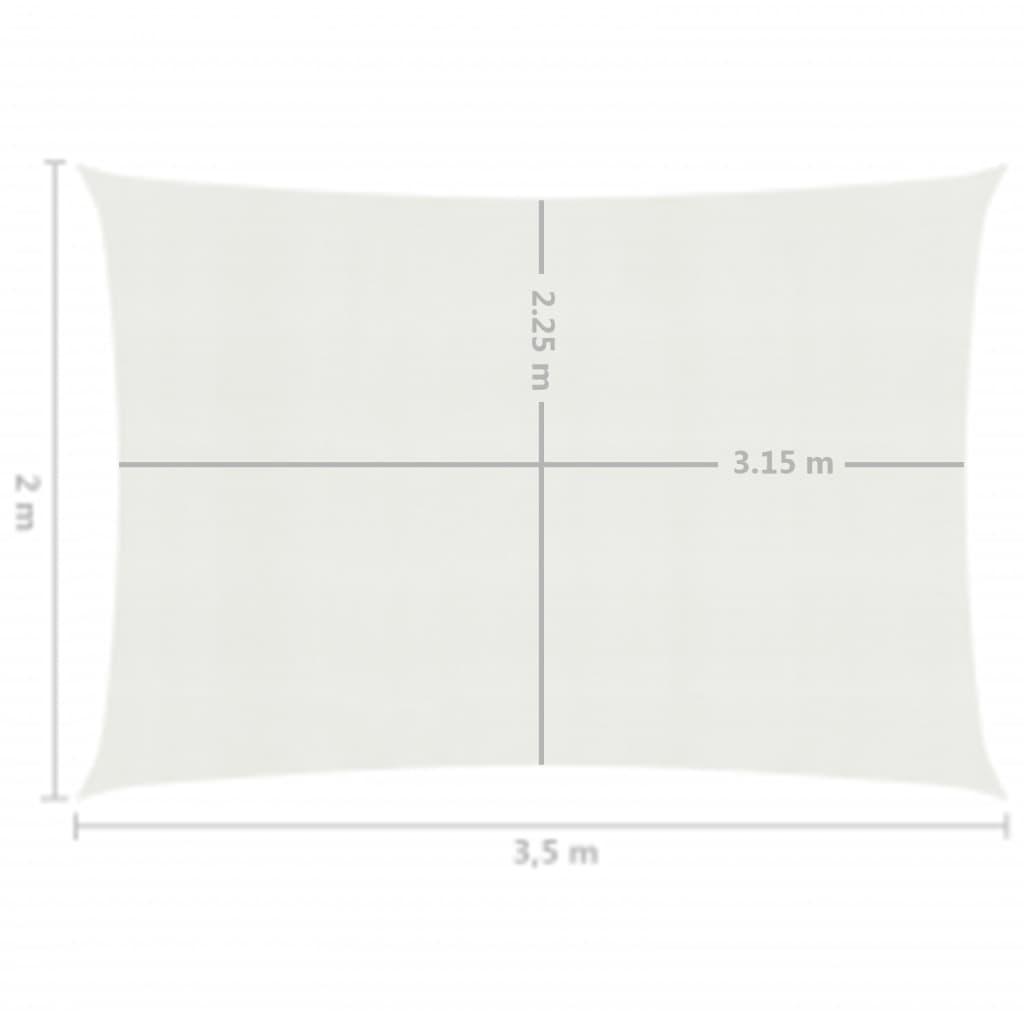 vidaXL Zonnezeil 160 g/m² 2x3,5 m HDPE wit