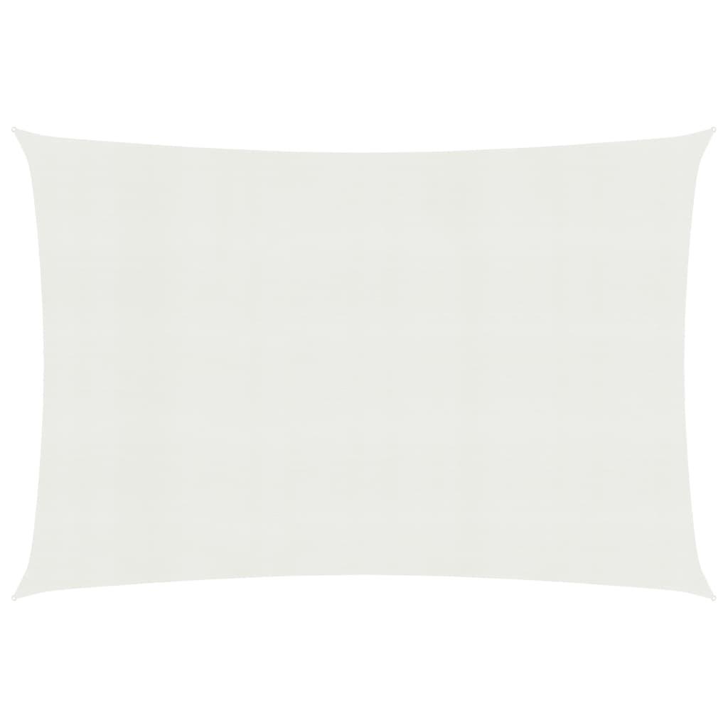 Sonnensegel 160 g/m² Weiß 2,5×4,5 m HDPE
