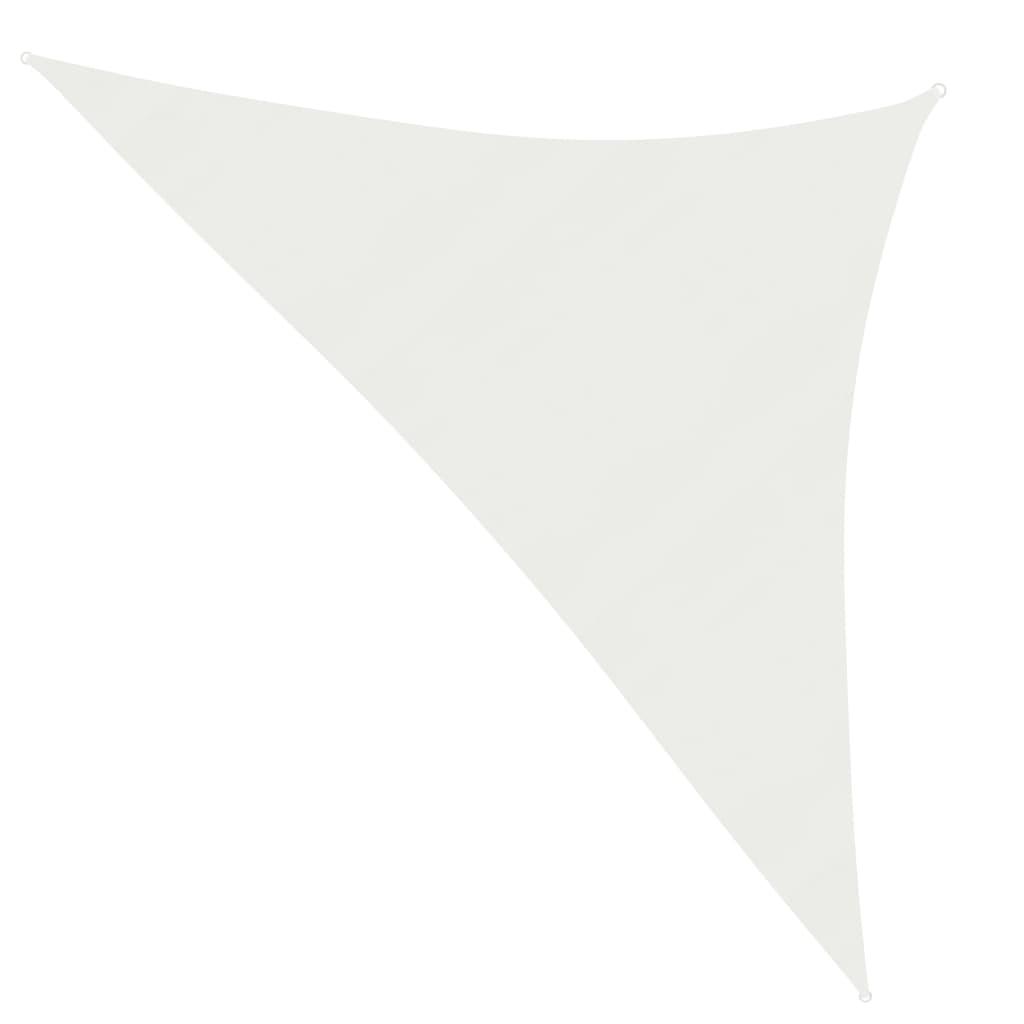vidaXL Zonnezeil 160 g/m² 3,5x3,5x4,9 m HDPE wit
