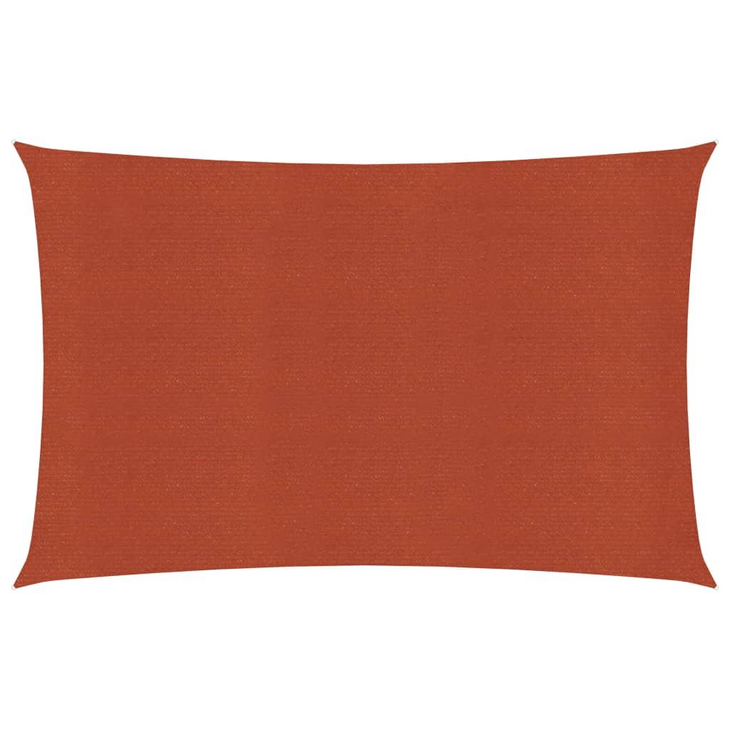 <ul><li>Farbe: Terracotta-Rot</li><li>Material: HDPE</li><li>Größe: 2 x 3,5 m (L x B)</li><li>Form: Rechteckig</li><li>Ca. 90% UV-Schutz</li><li>Wind- und wasserdurchlässig</li><li>Schimmel- und UV-resistent, atmungsaktives HDPE</li><li>Edelstahlbefestigungen an jeder Ecke</li><li>Inkl. 4 x 1,5 m PE-Seil</li></ul>