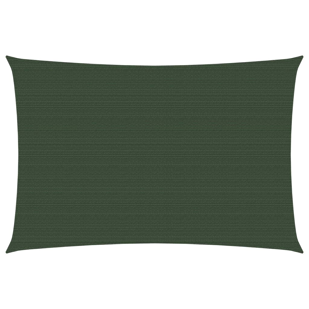 vidaXL solsejl 4×5 m 160 g/m² HDPE mørkegrøn