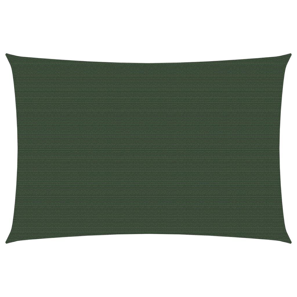 vidaXL solsejl 6x7m 160 g/m² HDPE mørkegrøn