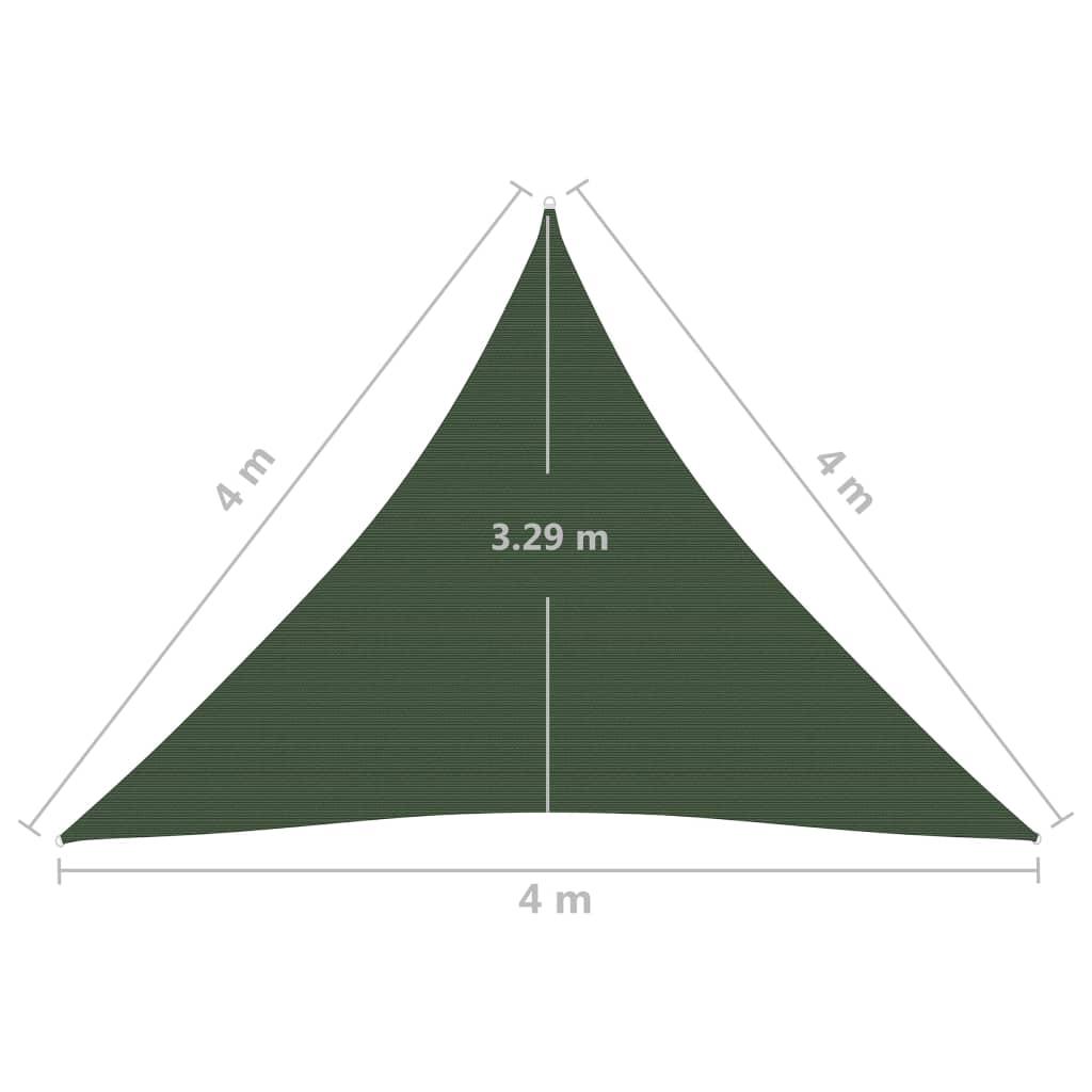 vidaXL Zonnezeil 160 g/m² 4x4x4 m HDPE donkergroen