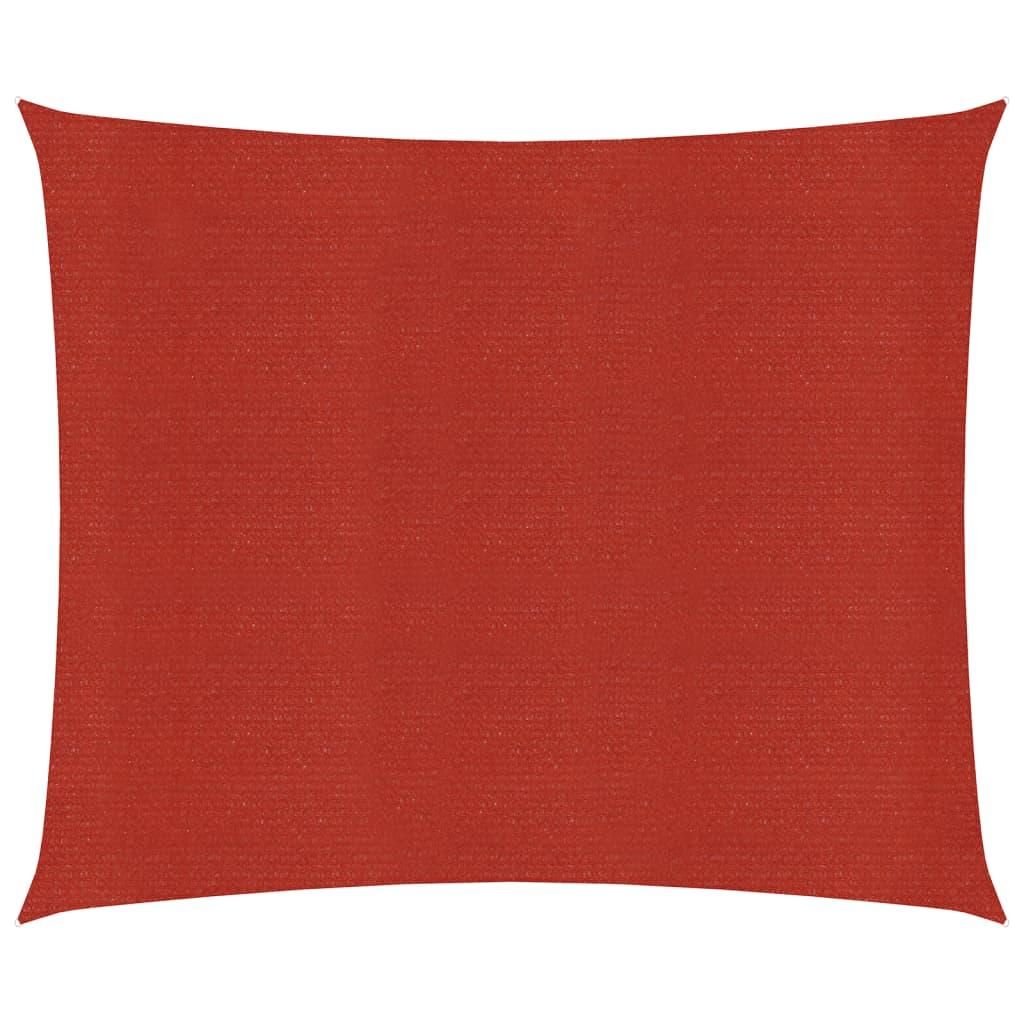 vidaXL Zonnezeil 160 g/m² 5x5 m HDPE rood