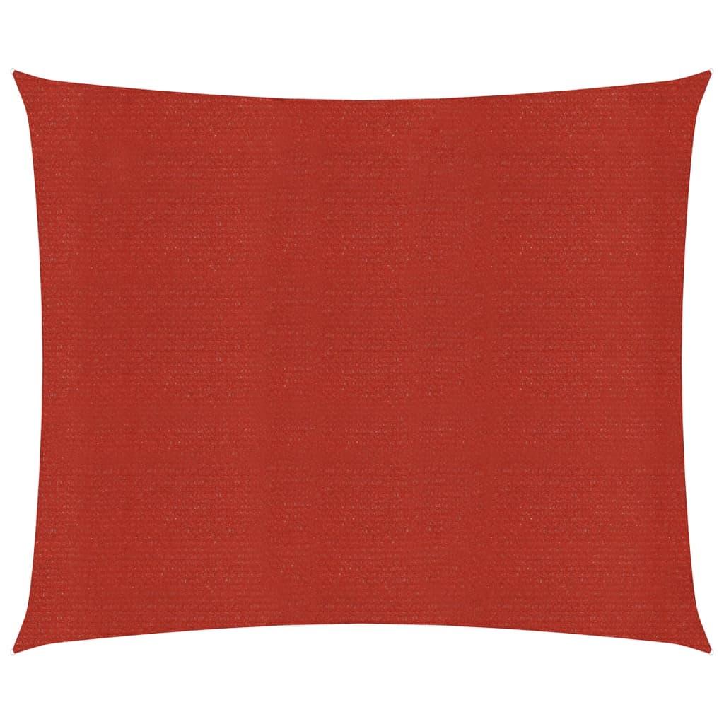 Zonnezeil 160 g/m² 7x7 m HDPE rood