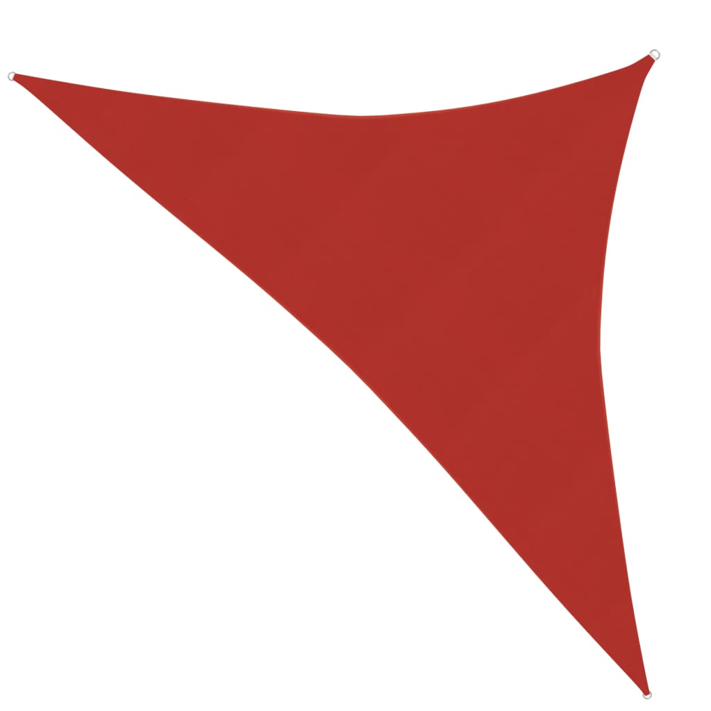 vidaXL Zonnezeil 160 g/m² 2,5x2,5x3,5 m HDPE red