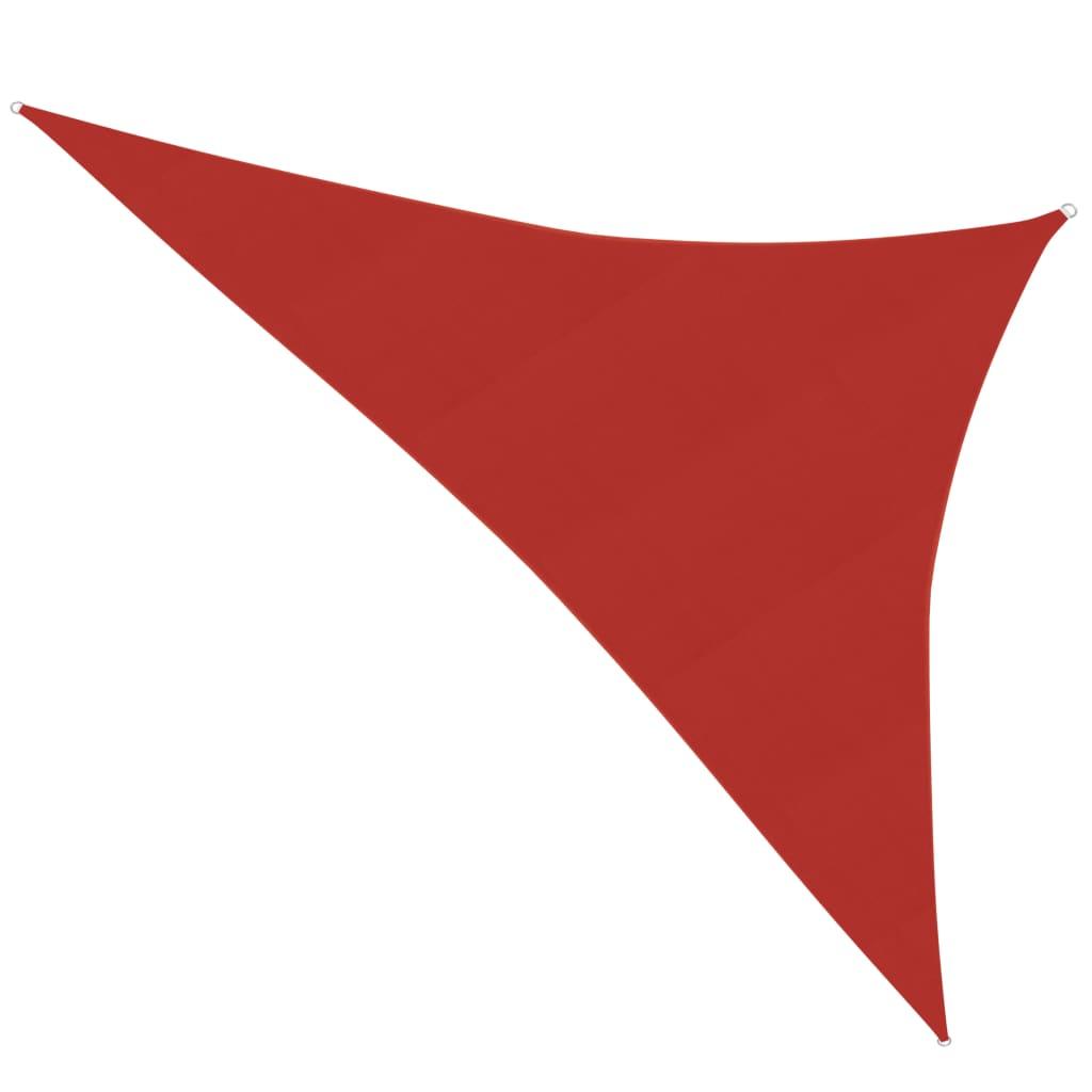 vidaXL Zonnezeil 160 g/m² 4x5x6,8 m HDPE rood