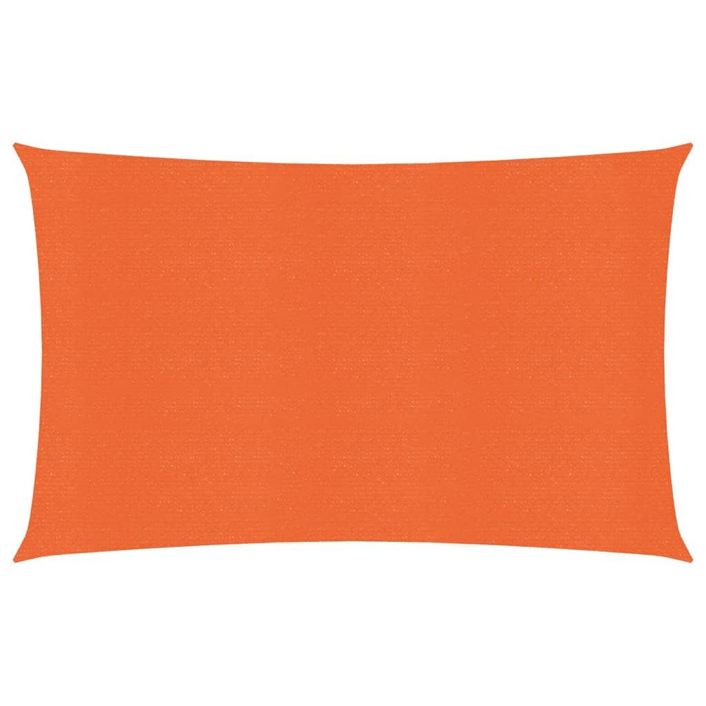 Zonnezeil 160 g/m² 3,5x5 m HDPE oranje