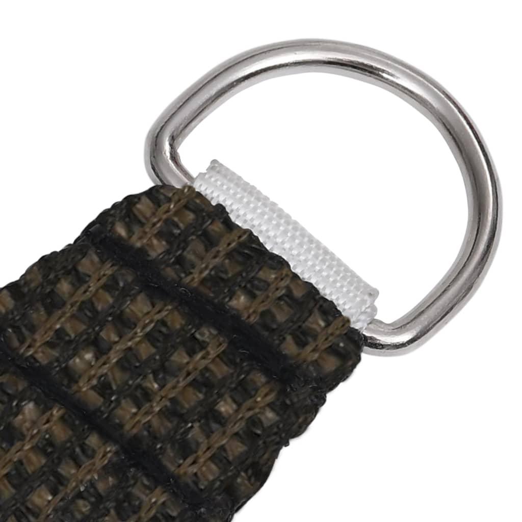 vidaXL Zonnezeil 160 g/m² 3,6x3,6 m HDPE bruin