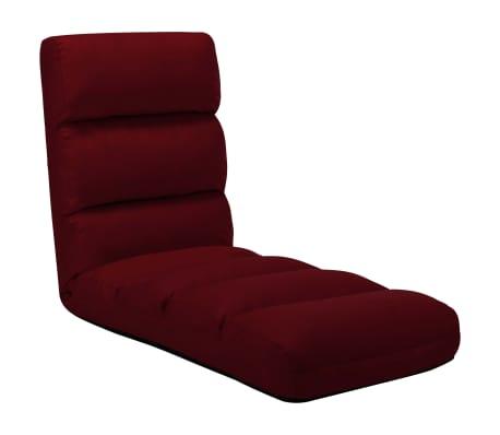vidaXL Chaise pliable de sol Rouge bordeaux Similicuir