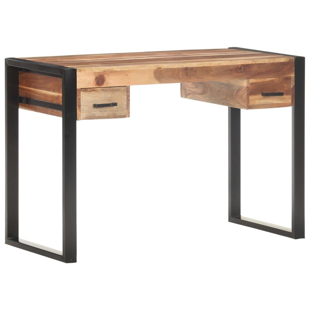 vidaXL Birou, 110 x 50 x 76 cm, lemn masiv cu finisaj de sheesham poza vidaxl.ro