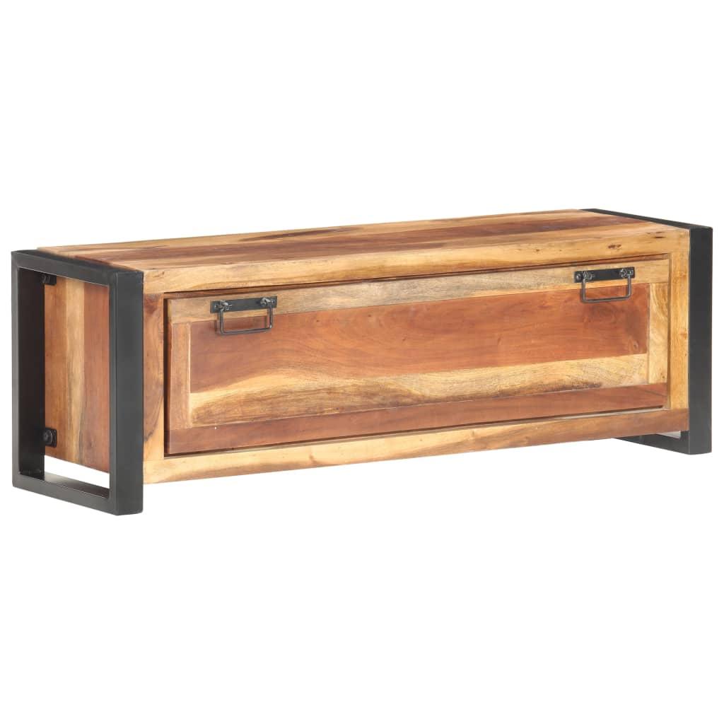 vidaXL Pantofar, 120 x 35 x 40 cm, lemn masiv cu finisaj sheesham poza 2021 vidaXL