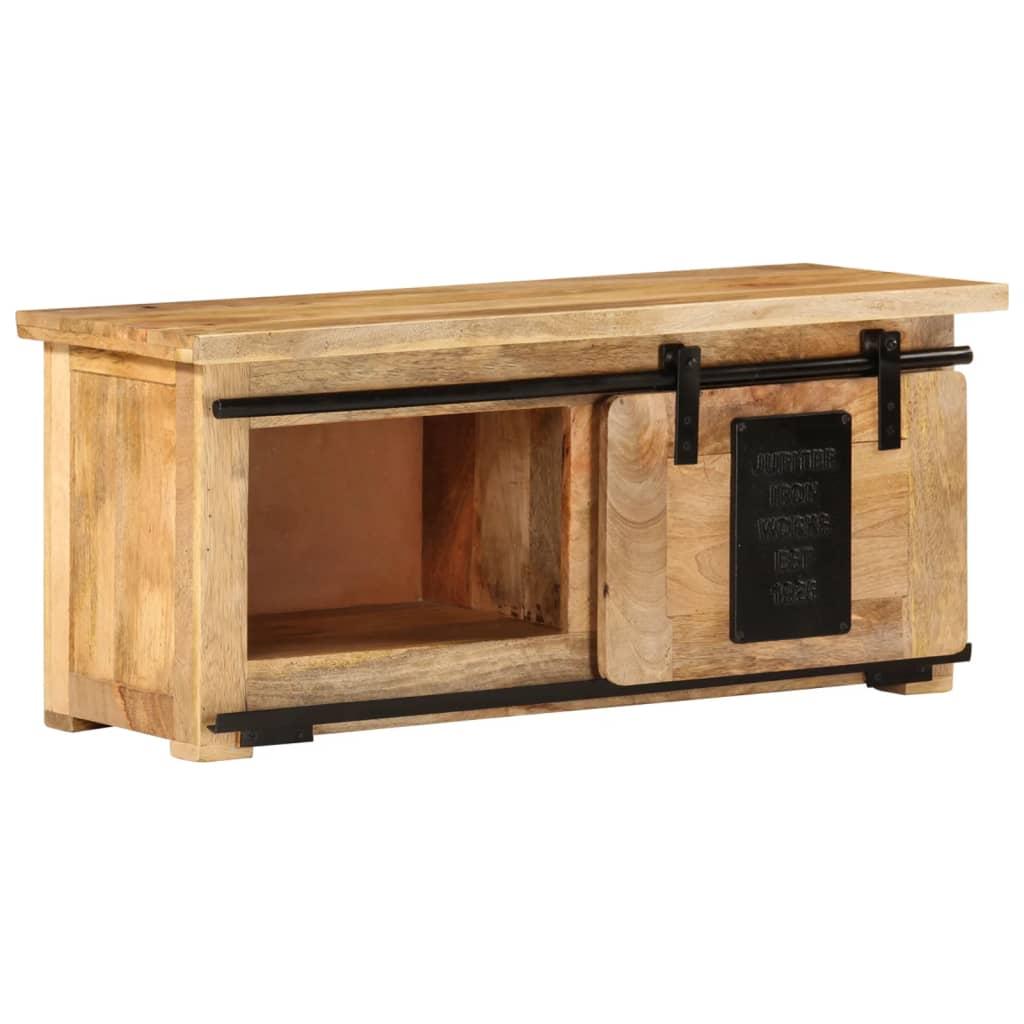 vidaXL Szafka pod TV, 90x35x40 cm, lite drewno mango