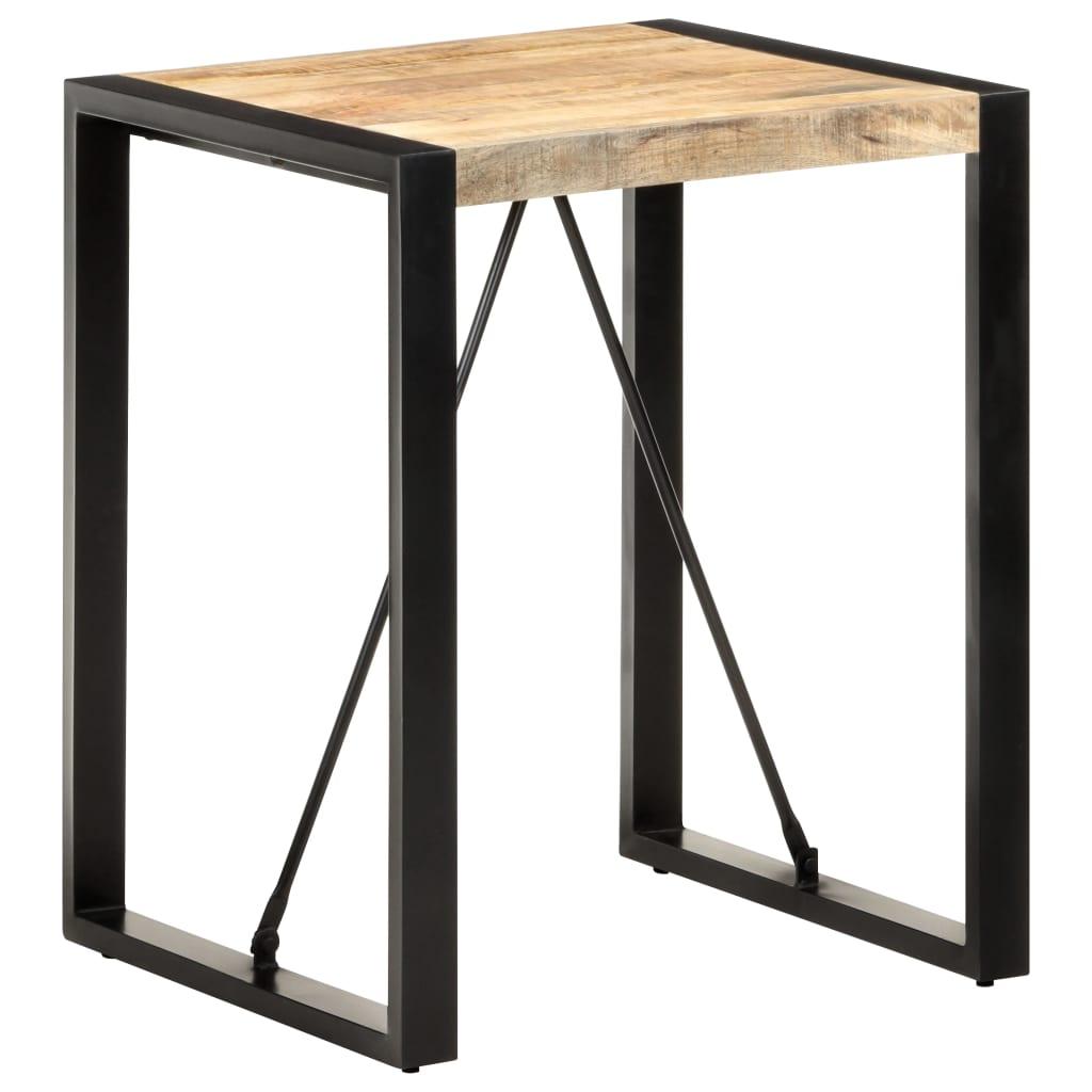 vidaXL Masă de bucătărie, 60x60x75 cm, lemn masiv de mango nefinisat poza 2021 vidaXL
