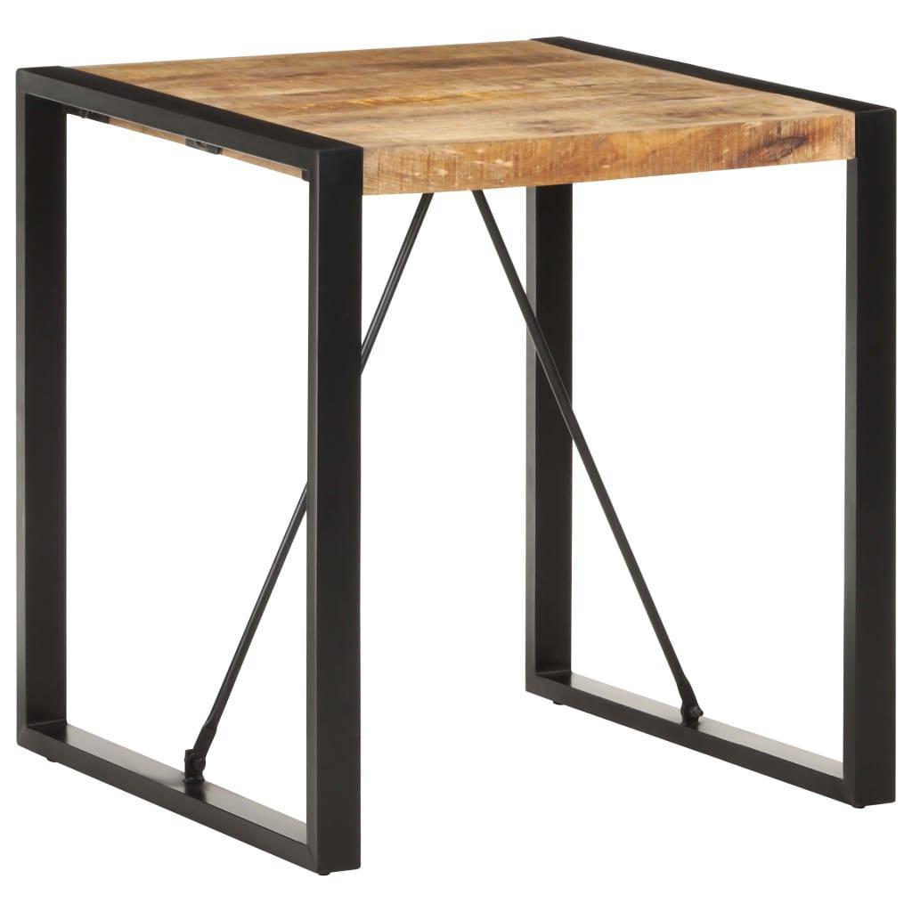 vidaXL Masă de bucătărie, 70x70x75 cm, lemn masiv de mango nefinisat vidaxl.ro