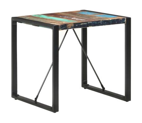 vidaXL Table de salle à manger 80x80x75 cm Bois de récupération massif