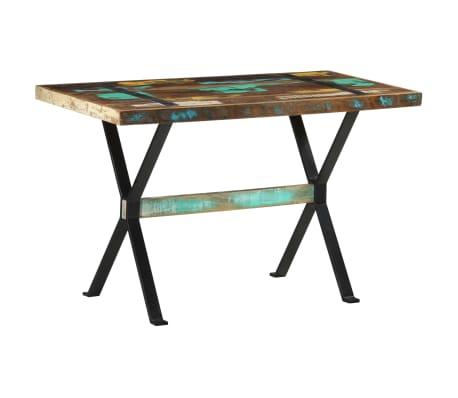 vidaXL Table de salle à manger 120x60x76cm Bois de récupération massif