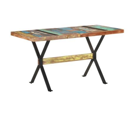 vidaXL Eettafel 140x70x76 cm massief gerecycled hout