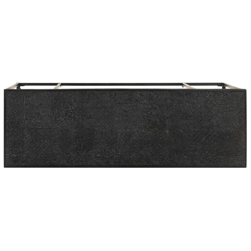 Wandtafel 110x35x76 cm massief acaciahout en mangohout zwart