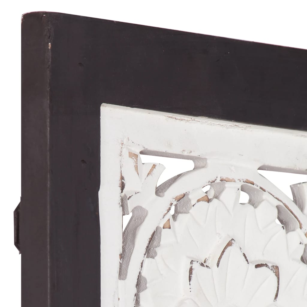 Wandpaneel handgesneden 40x80x1,5 cm MDF zwart en wit