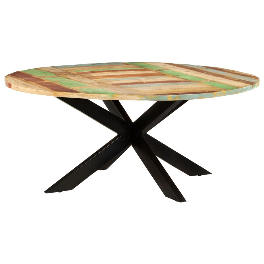 Eettafel rond 175x75 cm massief gerecycled hout