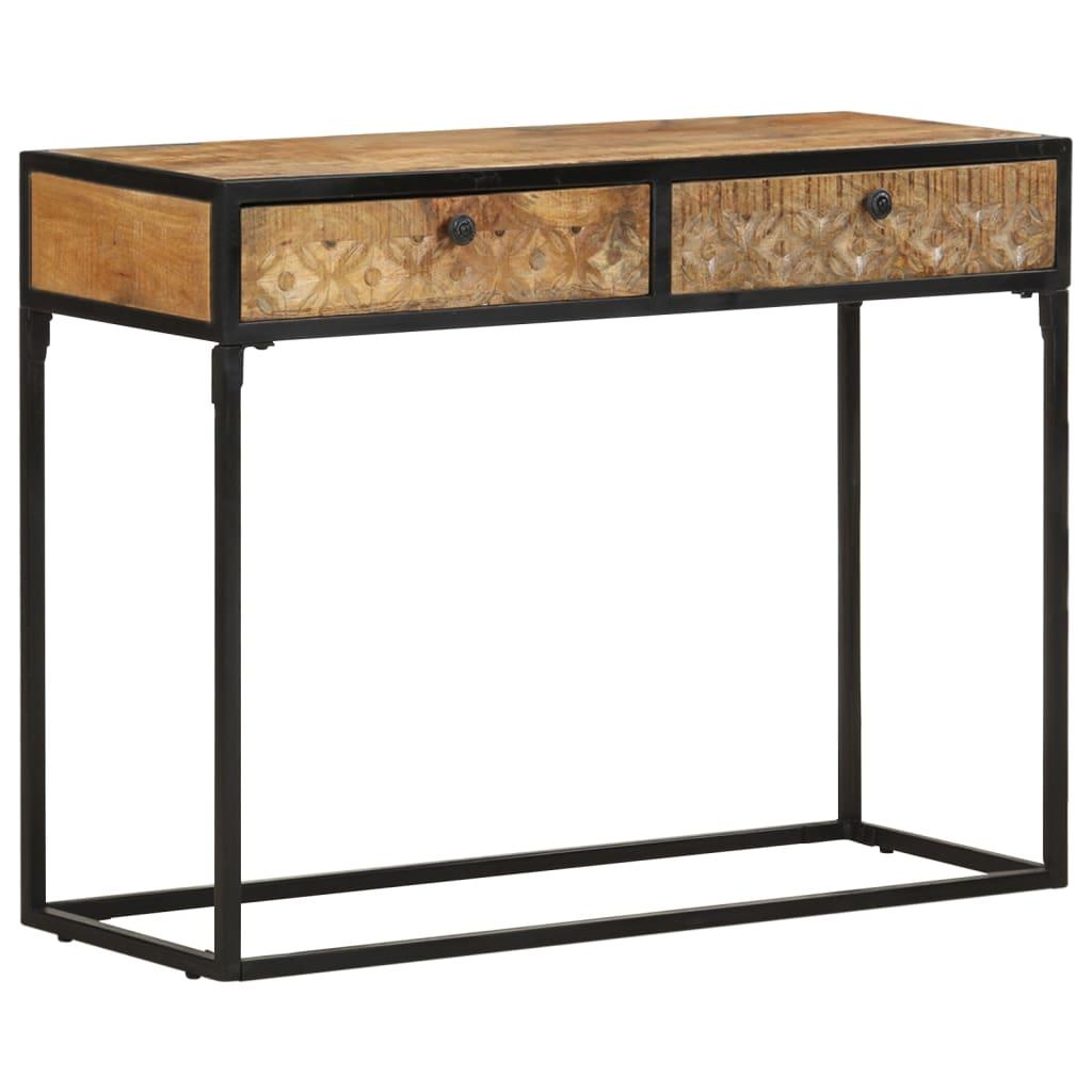 vidaXL Konzolni stol 100 x 35 x 75 cm od masivnog drva manga