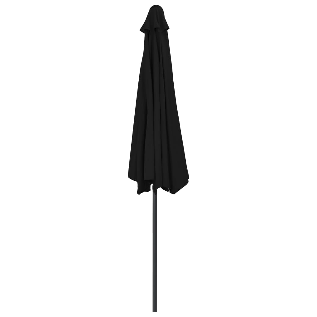 Balkonparasol half met aluminium paal 300x150x253 cm zwart
