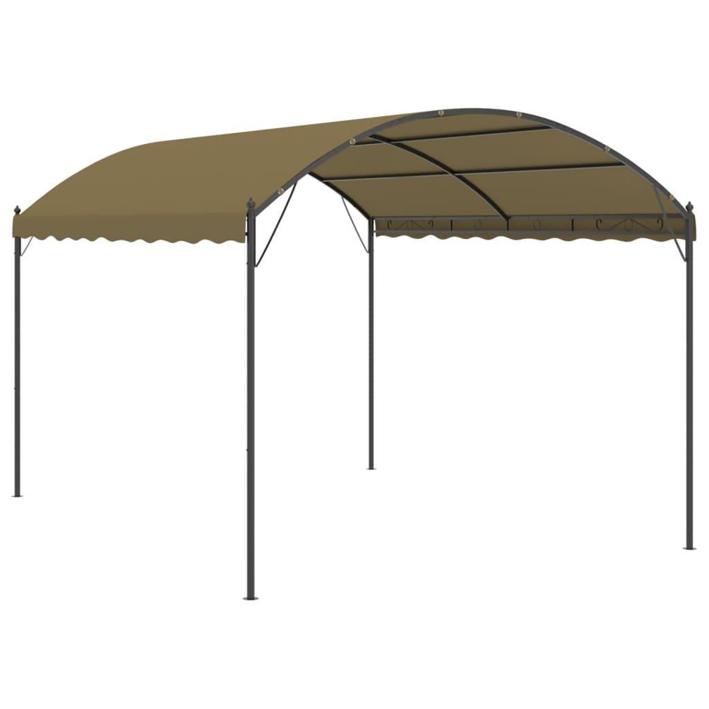 vidaXL Prieel 180 g/m² 4x3x2,6 m taupe