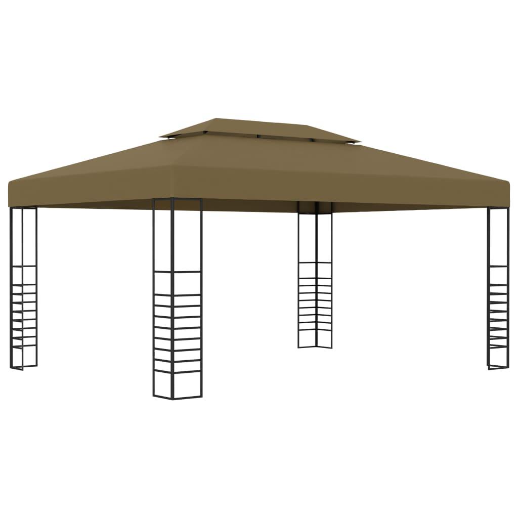 vidaXL Pavilion de grădină, gri taupe, 3 x 4 m, 180 g/m² poza 2021 vidaXL