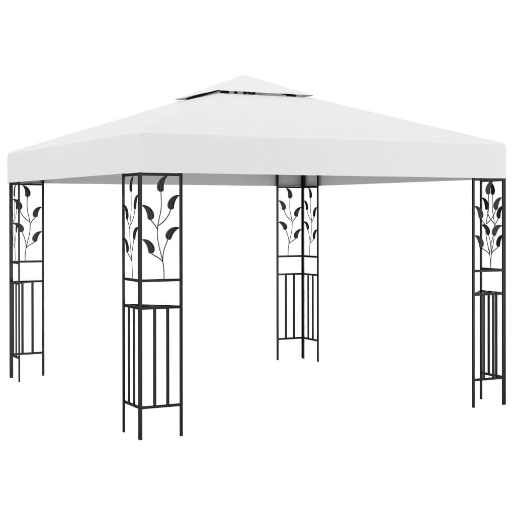vidaXL Pavilion de grădină, alb, 3 x 3 m, 180 g/m² poza vidaxl.ro