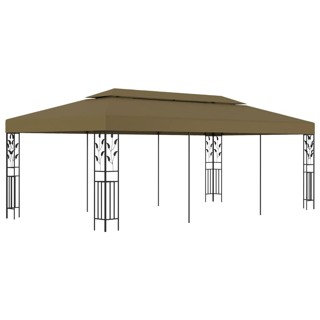 vidaXL Pavilion, gri taupe, 6 x 3 m, 180 g/m² poza 2021 vidaXL