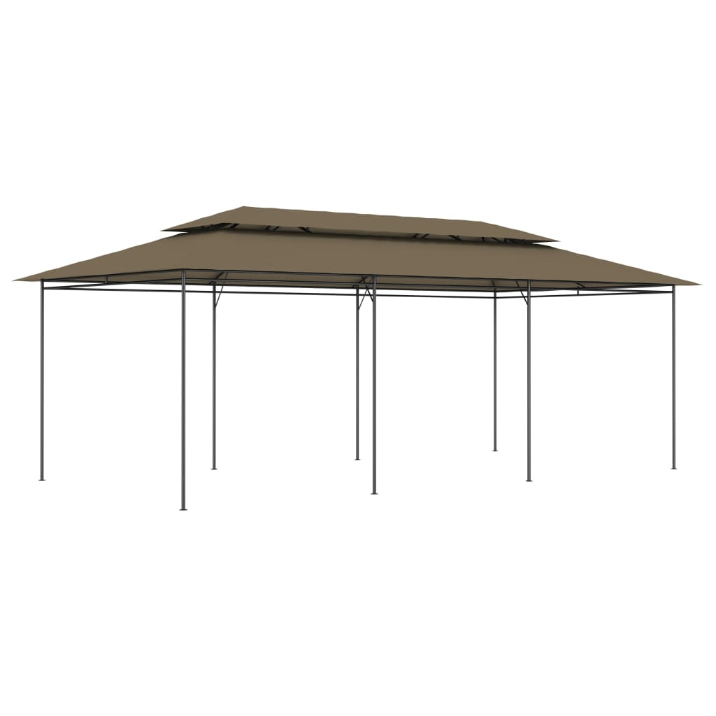vidaXL Pavilion, gri taupe, 600 x 298 x 270 cm, 180 g/m² imagine vidaxl.ro