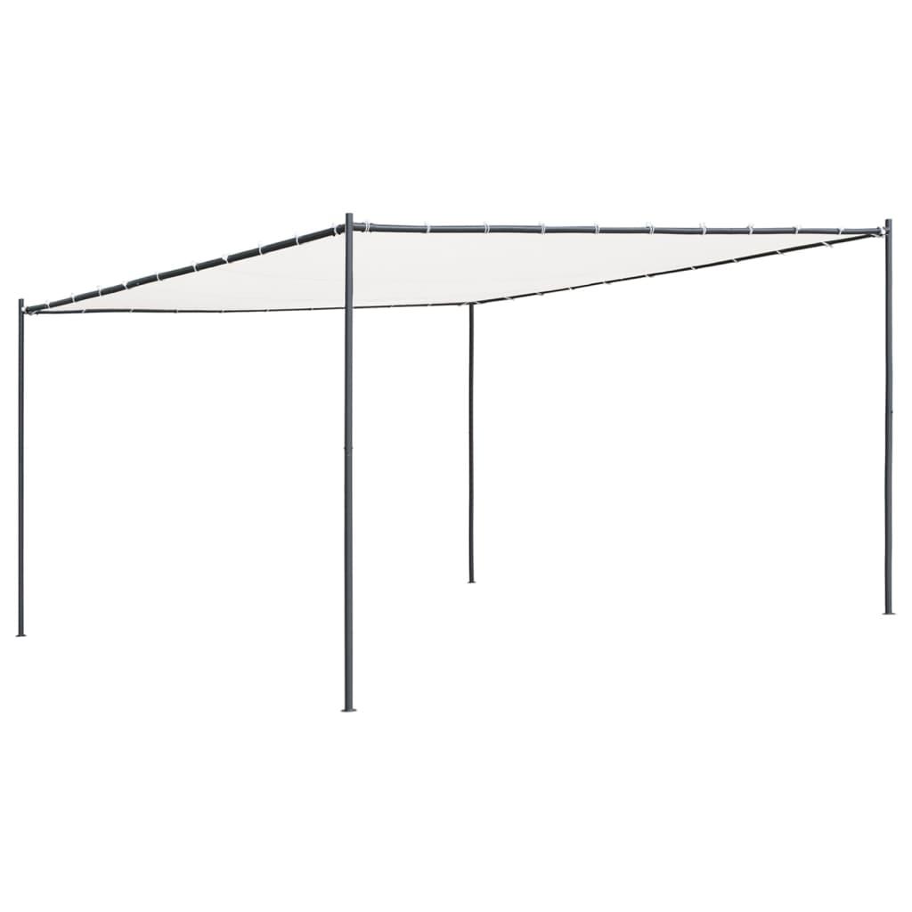 vidaXL Pavilion cu acoperiș plat, alb, 4 x 4 x 2,4 m, 180 g/m² poza vidaxl.ro