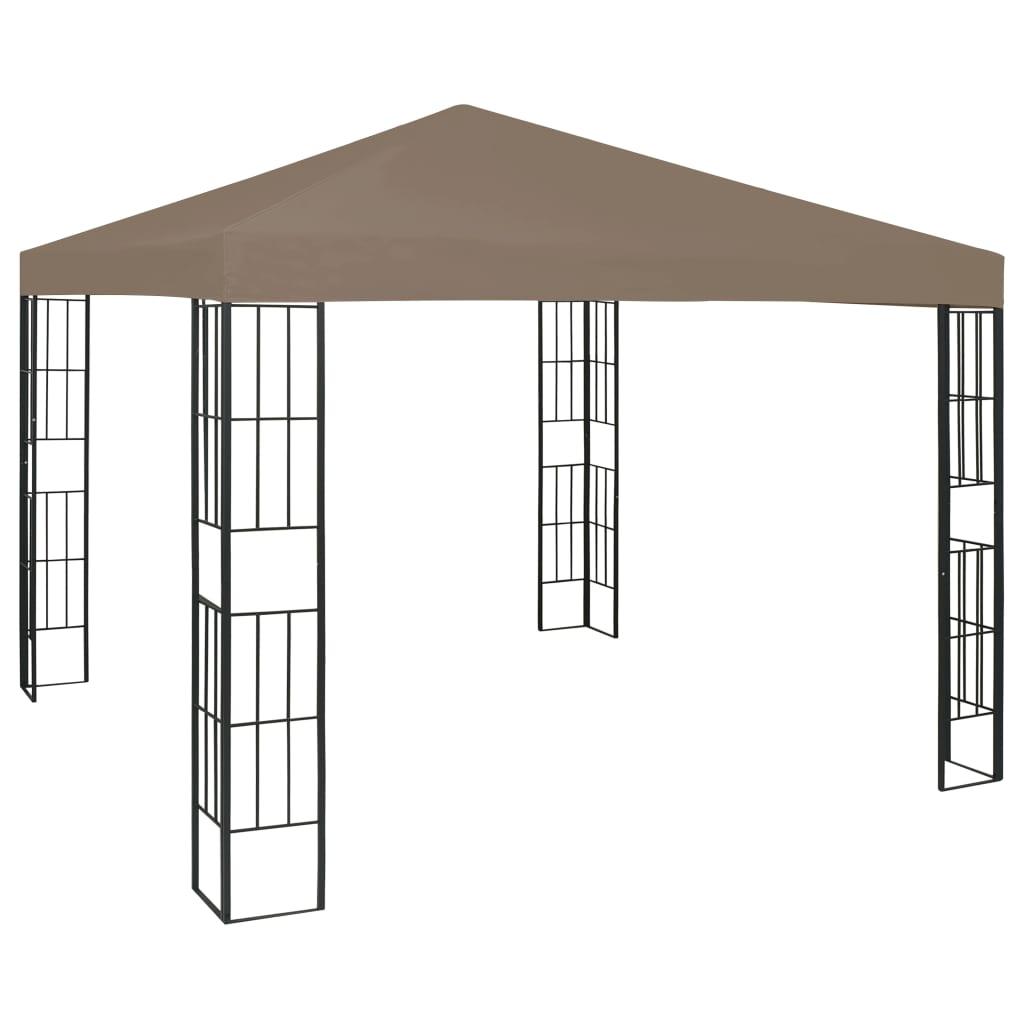 vidaXL Pavilion, gri taupe, 3 x 3 m imagine vidaxl.ro