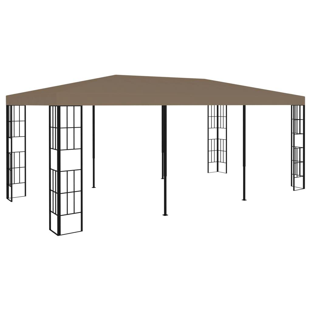 vidaXL Pavilion, gri taupe, 6 x 3 m imagine vidaxl.ro