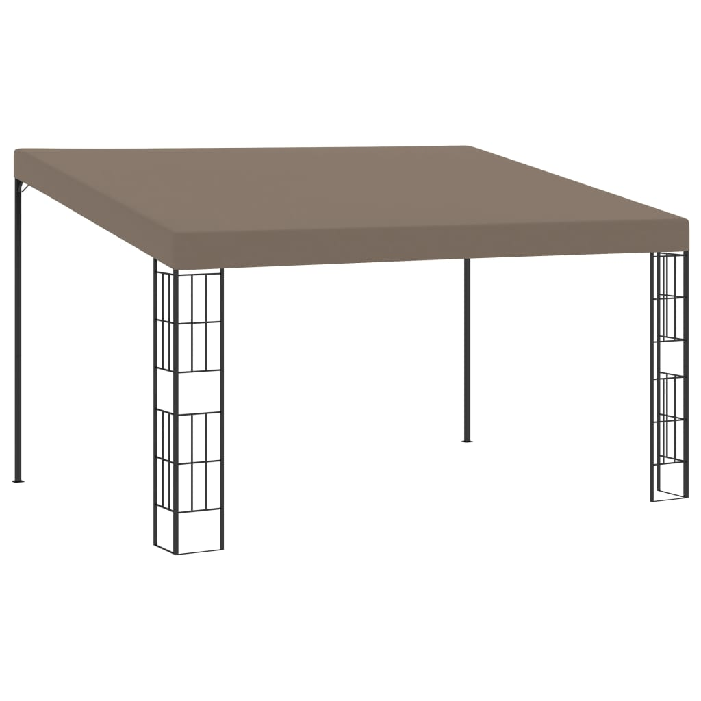 Wandprieel 4x3 m stof taupe