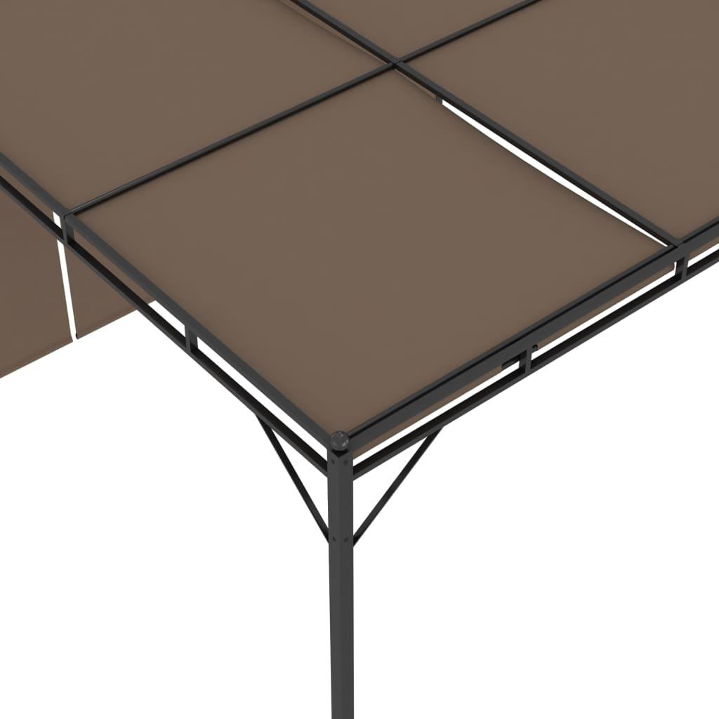 vidaXL Tuinprieel met zijgordijn 3x3x2,25 m taupe