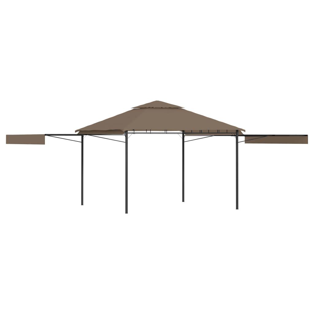 Prieel met uitschuifbare daken 180 g/m² 3x3x2,75 m taupe