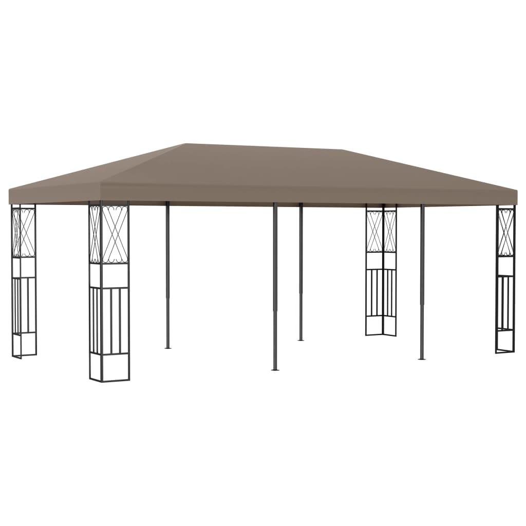 vidaXL Pavilion, gri taupe, 6 x 3 m, material textil poza 2021 vidaXL