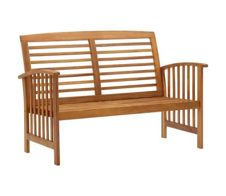 """vidaXL Garden Bench 46.9"""" Solid Acacia Wood"""