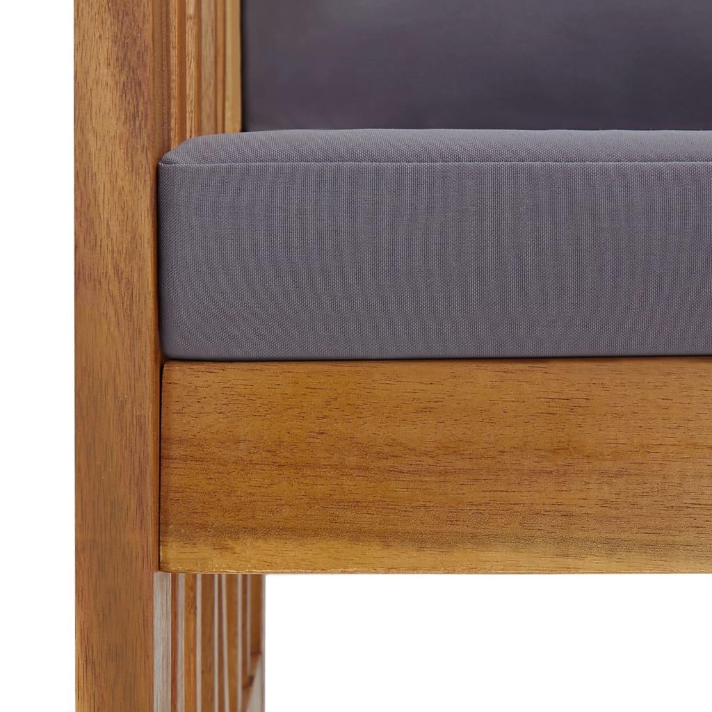 vidaXL Tuinbank met kussens 119 cm massief acaciahout