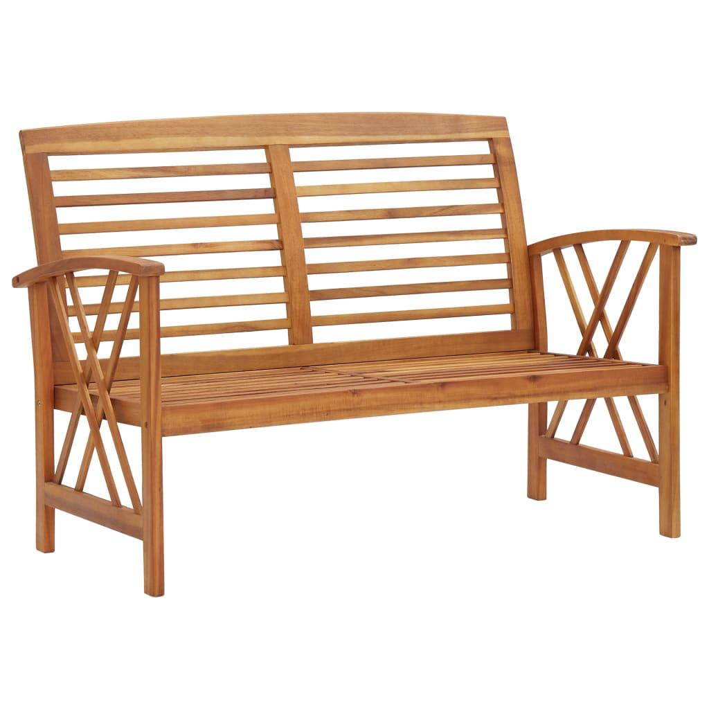 vidaXL Bancă de grădină, 119 cm, lemn masiv de acacia poza 2021 vidaXL